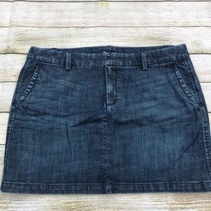GAP Blue Jean Mini Skirt Size 12
